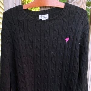 Lilly Pulitzer Cable Knit Cotton Sweater